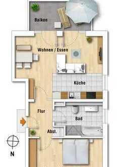 Großzügige 2-Zimmer-Wohnung in zentraler Lage von Bilderstöckchen!