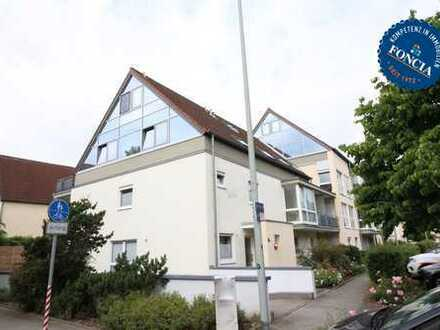 Großzügigen Maisonette-Wohnung mit Balkon, TG und Außenstellplatz.