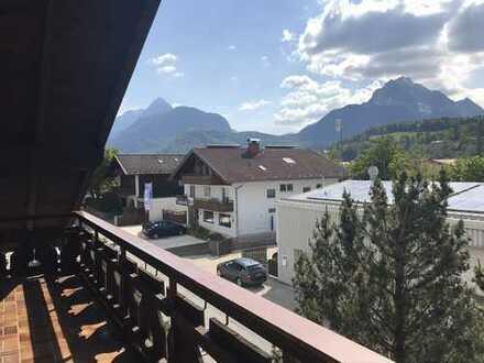 Bergblick 3 Zimmer DG-Wohnung & Balkon in Mittenwald