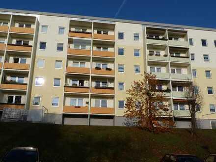 Blick über die Stadt Zschopau, 4-Raumwohnung mit Balkon