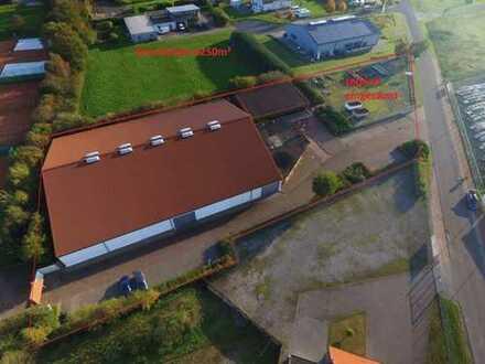 Halle 2450m² - Verkauf - Lager- Ausstellung - von der Autobahn A1 sichtbar