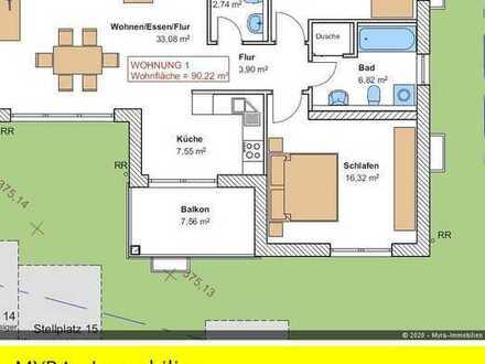 *Projektiert* EG-Wohnung Nr.1 mit Balkon und TG-Stellplatz - Barrierefreie & behindertengerecht *