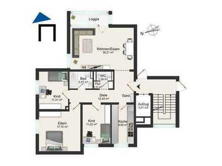 Schöne zentral gelegene 4-Zimmer Wohnung mit Balkon in Okarben