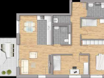 Großzügige 4-Zimmerwohnung im 1OG mit Balkon!