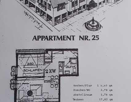Stilvolle, gepflegte 2,5-Zimmer-Dachgeschosswohnung mit Einbauküche in Bad Schönborn