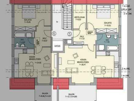 Riesige 3-Zimmer DG-Wohnung mit großen Balkon