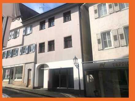 Saniertes Geschäftshaus am Marktplatz von Hechingen