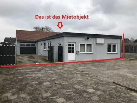 Freistehendes Haus +Büro + Halle (Garage) + BÜRO/WC + 4 Zimmer + Küche + Vollbad + Garten