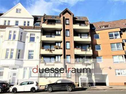 Bilk: gepflegte 2-Zimmerwohnung in zentraler Lage mit Balkon