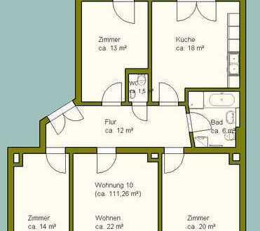 Zentrumsnahe, schicke 4-Raumwohnung mit Balkon