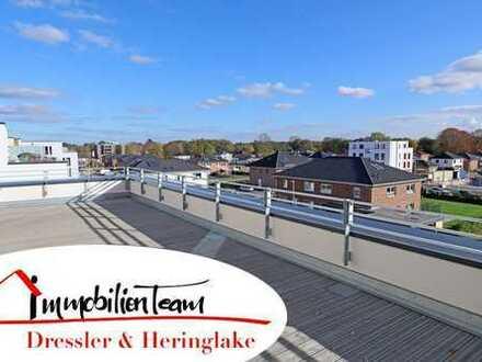überragende Dachterrasse mit Blick über die Parkstadt Pinneberg   3 Zi.-Whg. mit Penthouse-Charakter