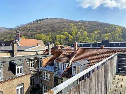 Ein besonderes Wohnjuwel mit beeindruckendem Schloss- und Fernblick in der Heidelberger-Altstadt