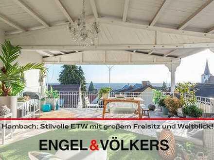 Hambach: Stilvolle ETW mit großem Freisitz und Weitblick!