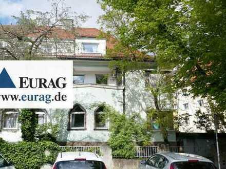 N-Nibelungenviertel: Renovierungsbedürftige Eckvilla mit 8-9 Zimmer, 2 Balkone, Garten, 2 Garagen