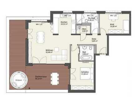 Penthaus mit Dachterrasse & Lift - Wohnung A6