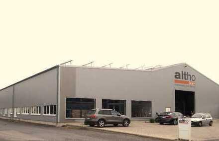 Neue Produktionshalle mit Ausstellungsflächen und Büros!