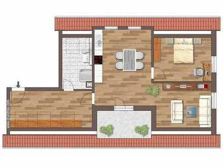 Erstbezug: exklusive 4-Zimmer-Wohnung mit großem Balkon und unverbautem Blick in den Aurachgrund
