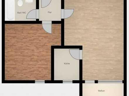 2-Zimmer-Wohnung mit Einbauküche, Balkon und Keller