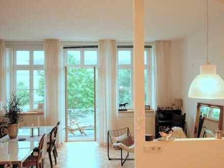 Exklusive, geräumige Ein-Zimmer-Wohnung mit Balkon, EBK und Charakter in Münster, Uppenberg