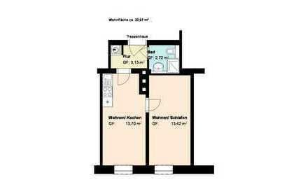 *Haidhausen*1- Zimmer mit Wohnküche*möbliert*EBK*Duschbad *Keller*Parkett*