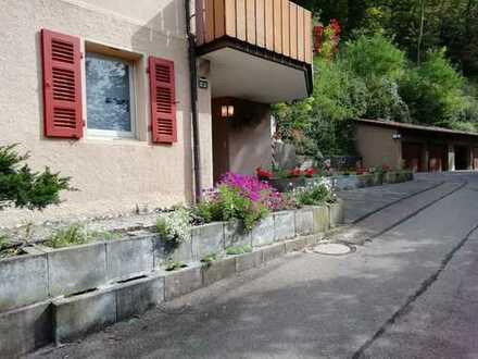 2-Zimmer-EG-Einliegerwohnung mit Terrasse, Garage und EBK in Bad Urach.