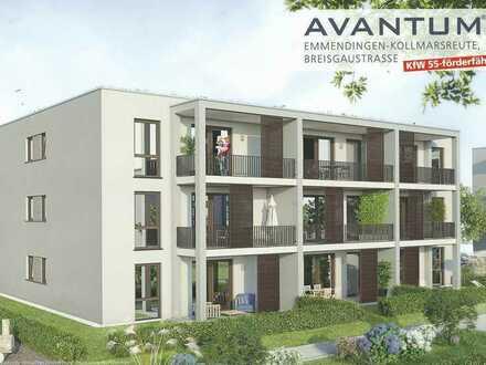 Erstbezug: stilvolle 3-Zimmer-EG-Wohnung mit Einbauküche und Terrasse in Emmendingen