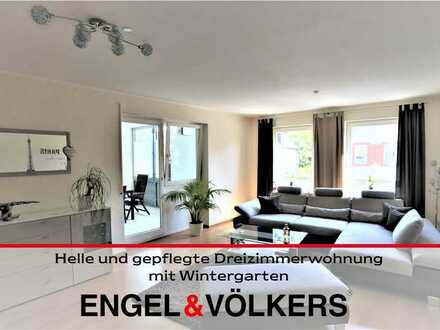 Helle und gepflegte Dreizimmerwohnung mit Wintergarten