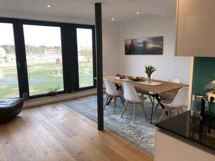 Stilvolle, neuwertige 5-Zimmer-Wohnung in Mannheim mit toller Ausicht am Sullivan Park