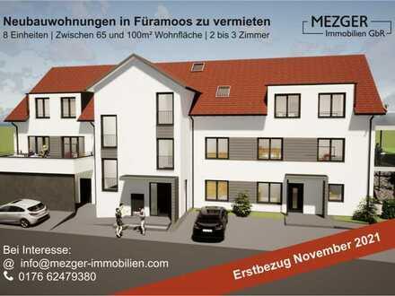 Erstbezug: schöne 2-Zimmer-DG-Wohnung mit EBK in Füramoos