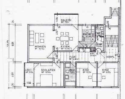 Sanierte 5-Raum-Wohnung mit 2 Balkonen in Bad Friedrichshall,Jagstfeld