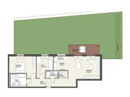 Erdgeschoss mit Gartenanteil - Wohnung B1