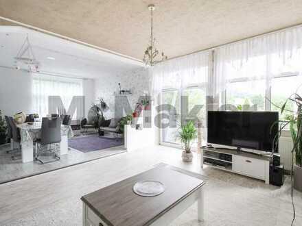 Stilvoll modernisierte 5-Zimmer-Wohnung mit Sonnenbalkon und traumhaftem Blick ins Grüne