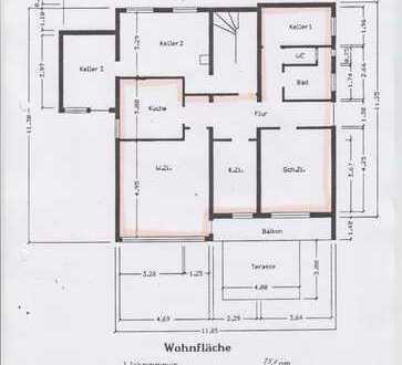 Schöne ruhige 3-Zimmer-Wohnung mit Balkon und Einbauküche in Baden-Württemberg - Wannweil
