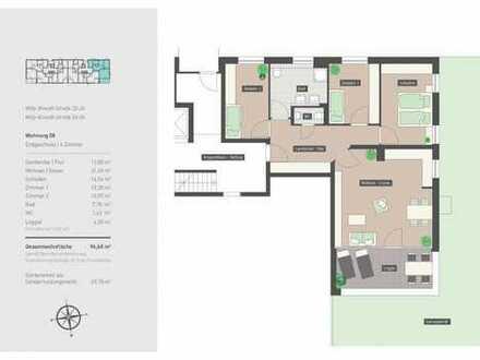 Ruhige 4-Zimmer-Wohnung im Grünen