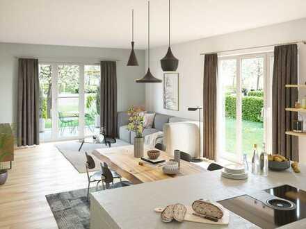 Für Familien das Größte: 4-Zi.-Wohnung mit ~89m² Privatgarten in familiengerechter Lage