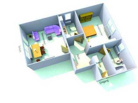 Ansprechende 2,5-Zimmer-Wohnung, voll möbiliert, mit Fernblick