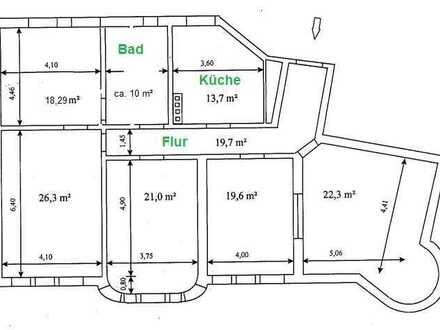 Günstige 5-Zimmer-Dachgeschosswohnung in Spremberg, renovierungsbedürftig