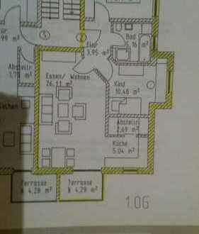 Schöne & gut aufgeteilte drei Zimmer Wohnung in Kelheim mit Südbalkon