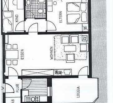 Gepflegte 3-Zimmer-EG-Wohnung mit Balkon in Gütersloh