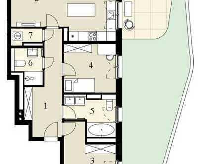 3-Zimmer-Gartenwohnung direkt am Hafen!
