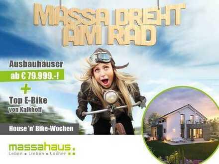 Massa dreht am Rad! House'n' Bike-Wochen - Jetzt Haus, Preis und Top E-Bike sichern!