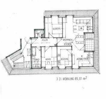 Neubau Dachloggia-Wohnung 3-Zimmer in Nürnberg