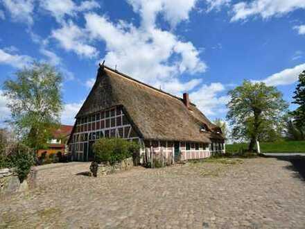 SCHWINGE IMMOBILIEN Stade: Reetdachhaus mit Praxisbetrieb in Buxtehude zu verkaufen.