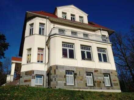 WOHNEN am LANDSCHAFTSSCHUTZGEBIET in einer Denkmal- Villa mit DACHTERRASSE & RUNDBLICK