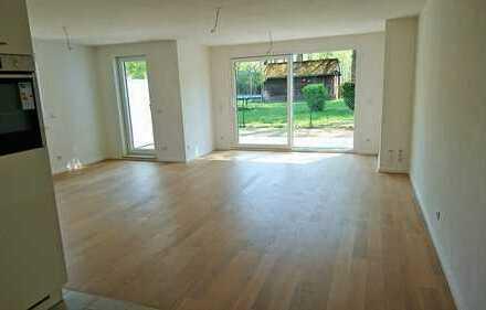 143 m² Wohnraum ....... Sonnige Maisonette-Wohnung mit Garten-Terrasse, S-Bahn-Nähe *Erstbezug