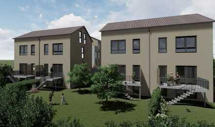 Helle, energieeffiziente Doppelhaushälfte mit Garten - Eckhaus mit Süd-/Westausrichtung