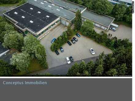 Großzügige Produktions- und Lagerhallen mit Bürofläche in verkehrsgünstiger Lage