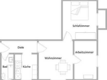 3,5-Zimmer-Wohnung mit Balkon Nähe Innenstadt