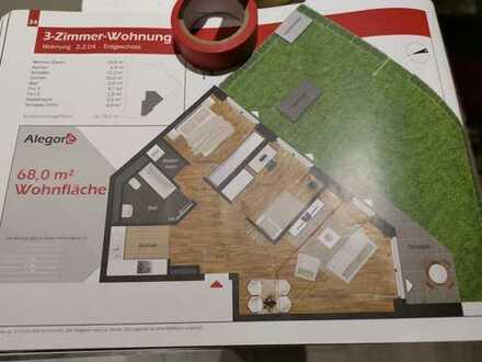 Perfekt geschnittene 3-Zimmer-Wohnung mit EBK und Terrasse mit perfekter Südausrichtung