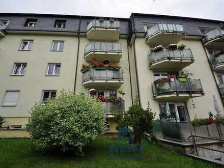Vermietete 2-Zimmereigentumswohnung mit Balkon am Stadtrand von Aue